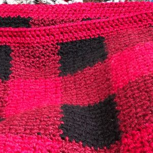 A buffalo plain blanket I crocheted